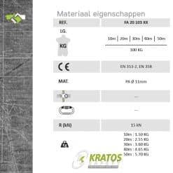 Kernmantel lijn diameter 11mm FA20103XX eigenschappen