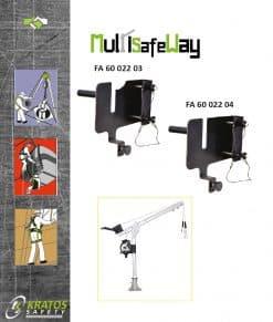 Bevestigingsplaat voor Valstopblok met lier op MultiSafeWay Kratos FA60022XX