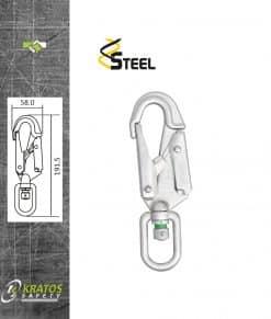 Automatische Swivel haak Staal 20mm FA5020320