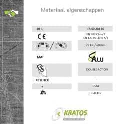 Automatische Steigerhaak Aluminium 60mm FA5020860 tech